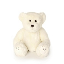 "Beverly Hills Teddy Bear Deluxe 7"" White Bentley Bear"