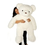 "Beverly Hills Teddy Bear Deluxe 36"" White Belvedere Bear"