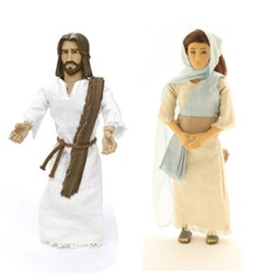Messengers of Faith Talking Jesus and Mary Doll Set