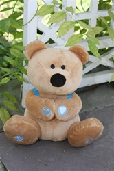 Prayer Bear with Book and Backpack, 10""