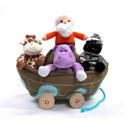 Plush Noah's Ark Pully 5pc. Set It really moves!