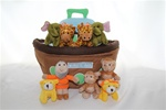 Plush Noah's Ark 10pc set