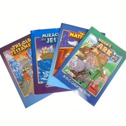 Set of 4 Coloring Books