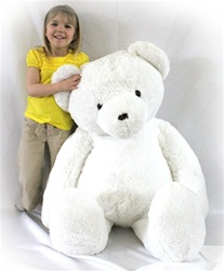 "Beverly Hills Teddy Bear Deluxe 48"" White Belvedere Bear"