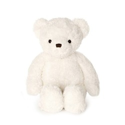 "Beverly Hills Teddy Bear Deluxe 20"" White Belvedere Bear"