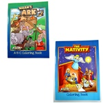 Noah's Ark and Nativity Coloring Books